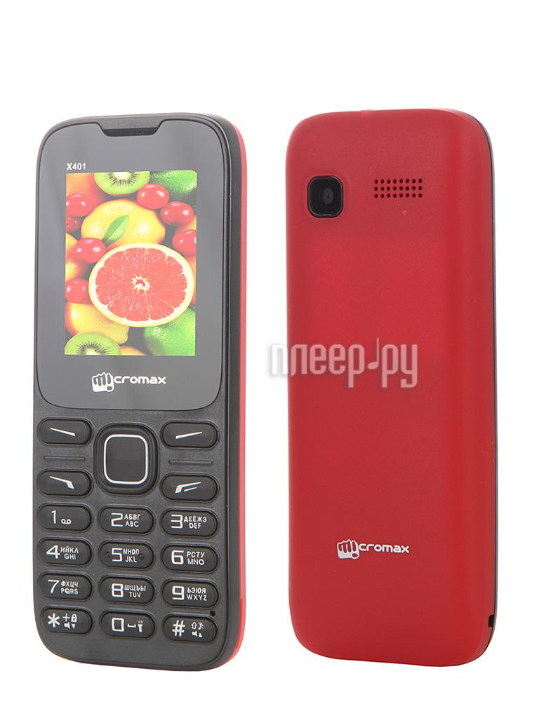 Сотовый телефон Micromax X401 Red