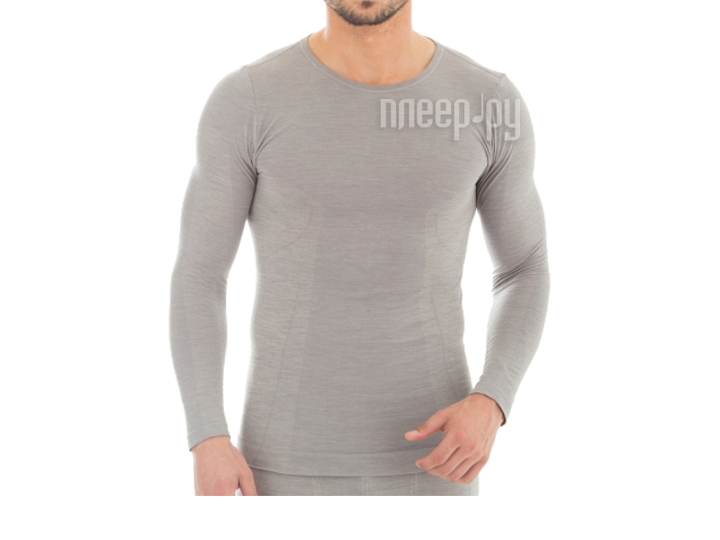 Рубашка Brubeck Comfort Wool L Grey LS12160 мужская