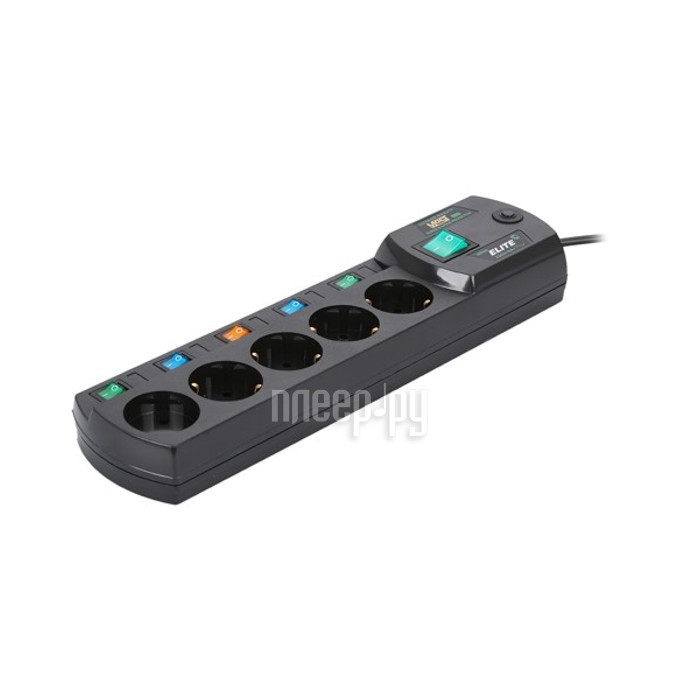 Сетевой фильтр Most ERG 5 Sockets 2m Black