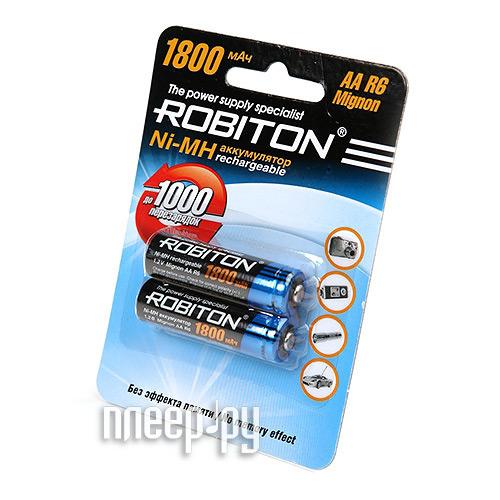 Аккумулятор AA - Robiton 1800 mAh 1800MHAA prof SR2 13174 (2 штуки)