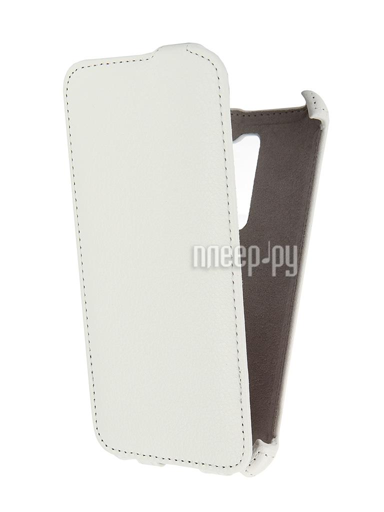 Аксессуар Чехол ASUS ZenFone 2 ZE500CL 5.0 Activ Flip Leather White 52637