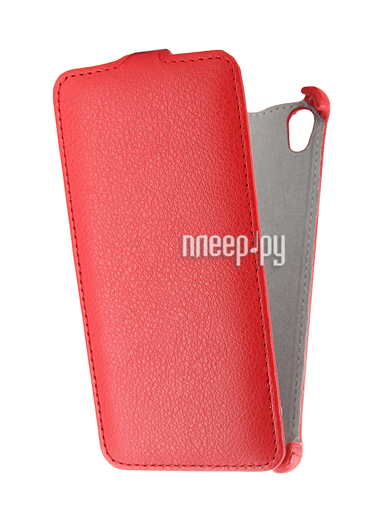 Аксессуар Чехол Sony E6683 Xperia Z5 Dual Activ Flip Leather Red 52714