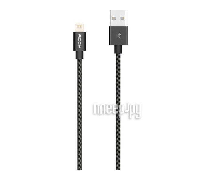 Аксессуар Rock MFI USB-Lightning Cable II RCB0411 Black