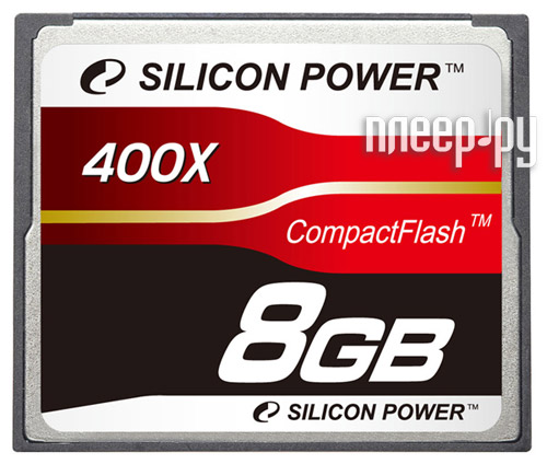 Карта памяти 8Gb - Silicon Power 400X Professional - Compact Flash SP008GBCFC400V10