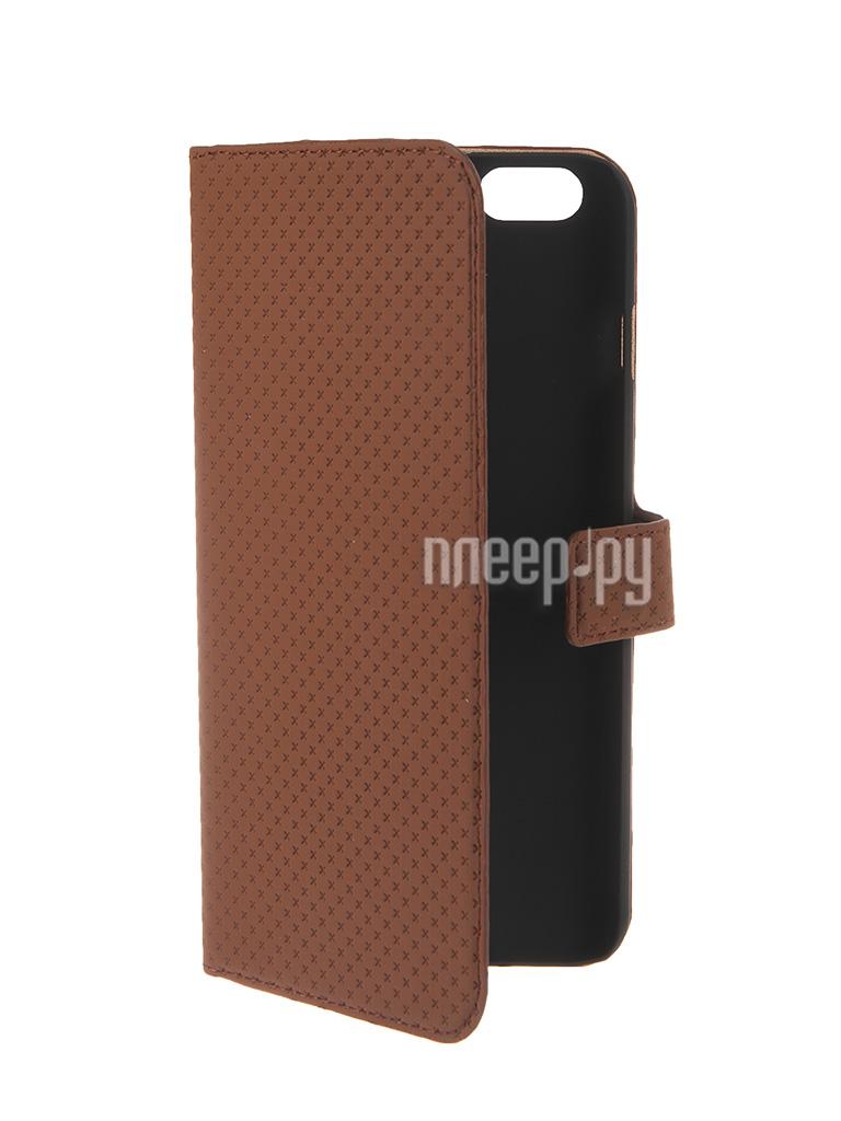 Аксессуар Чехол Muvit Wallet Folio Stand Case для iPhone 6 Plus Brown MUSNS0079