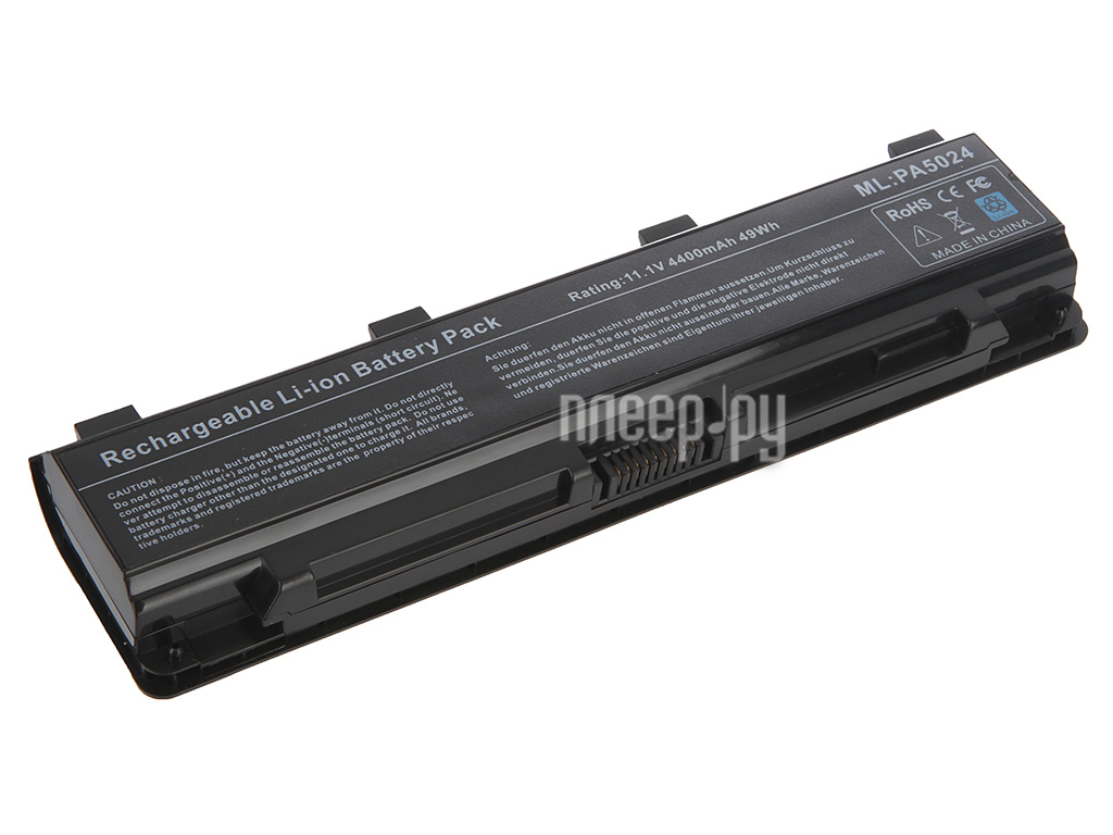 Аккумулятор Tempo LPB-PA5024 10.8V 4400mAh for Toshiba Satellite C800/C840/C850/C870/L800/L805/L830/L835/L840/L845/L855/M800/M845/P800