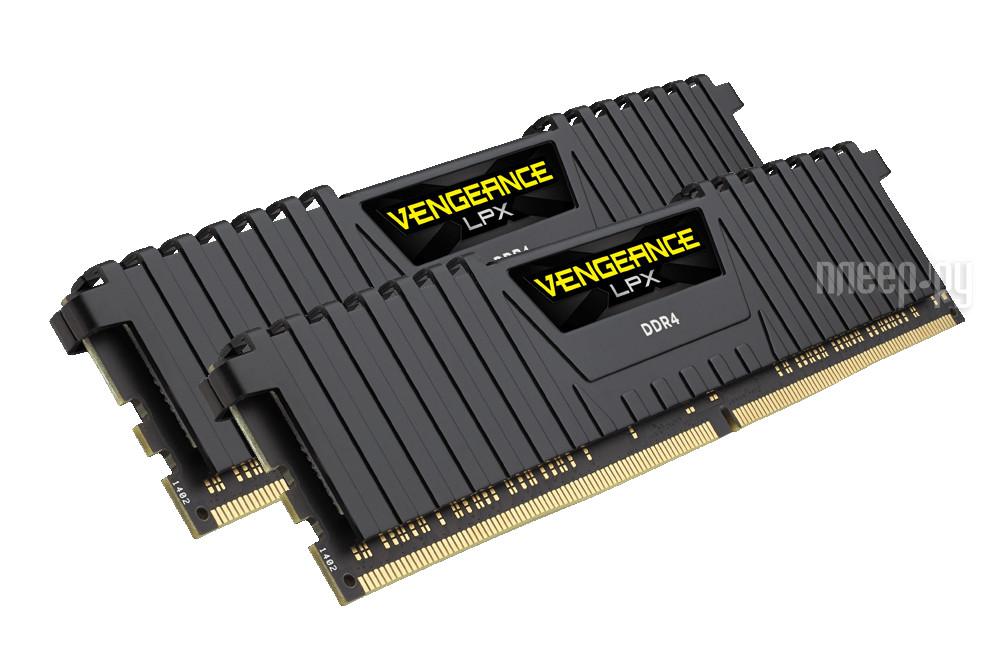 Модуль памяти Corsair Vengeance LPX PC4-24000 DIMM DDR4 3000MHz CL15 - 16Gb (2x8Gb) CMK16GX4M2B3000C15