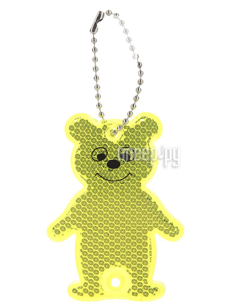 Светоотражатель WIIIX LS-4 мишка Yellow