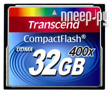 Карта памяти 32Gb - Transcend 400x Extreme Speed - Compact Flash TS32GCF400  Pleer.ru  1609.000