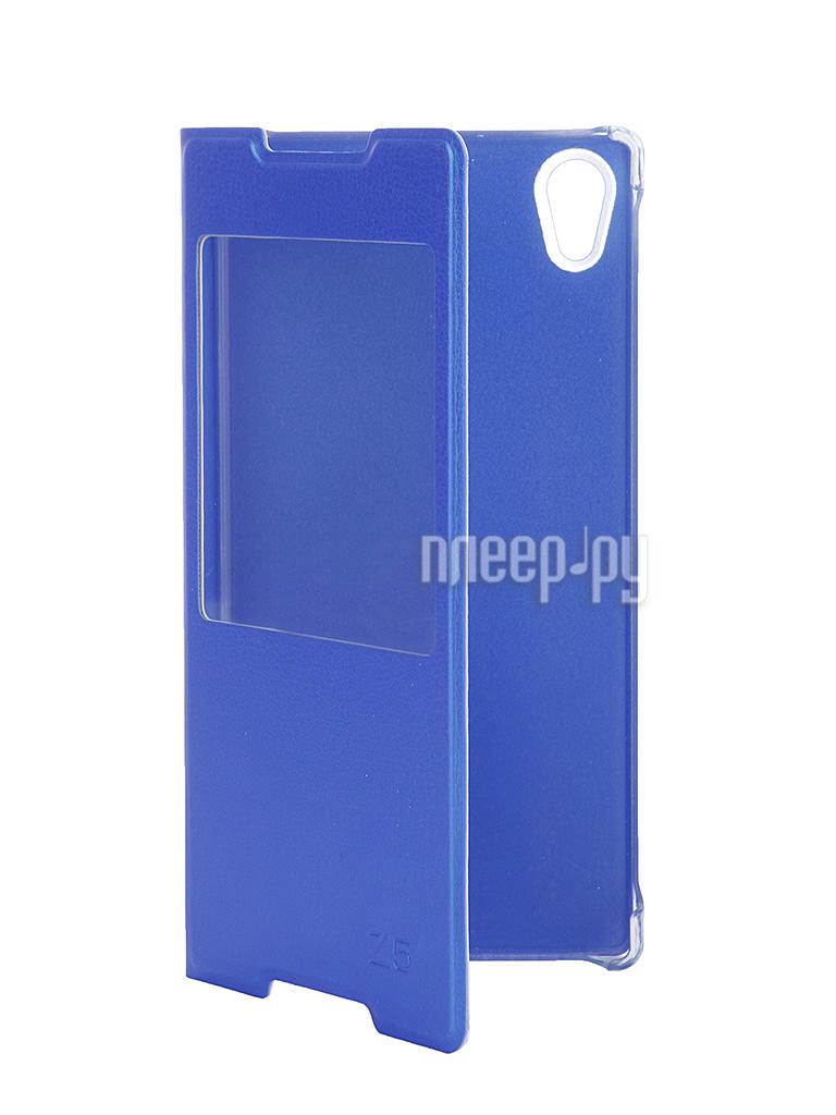 Аксессуар Чехол Sony Xperia Z5 Activ Book Case S View Cover Blue 50437