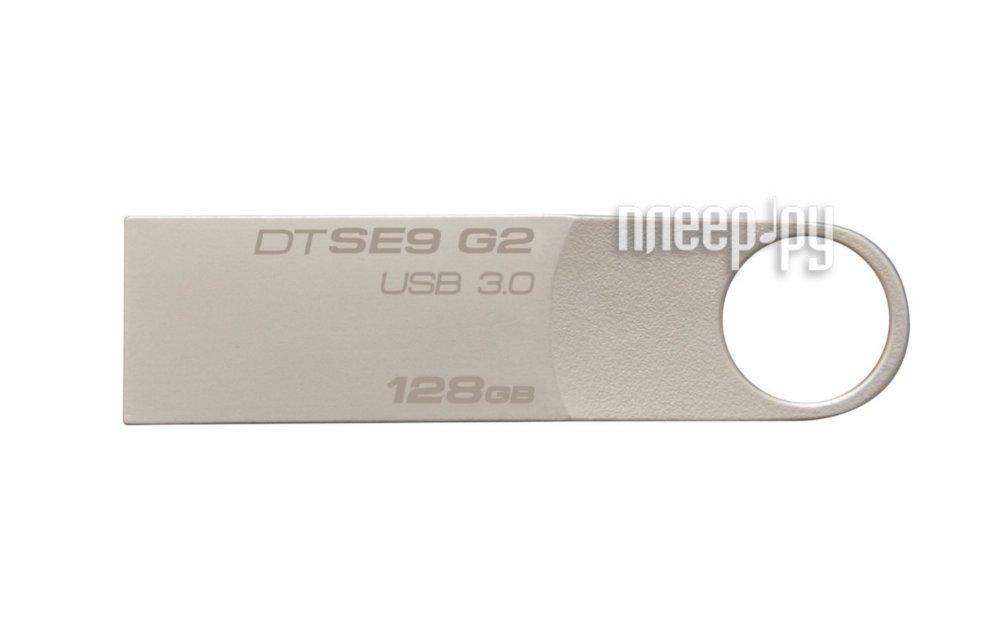 USB Flash Drive 128Gb - Kingston DataTraveler SE9 G2 USB 3.0 Metal DTSE9G2/128GB