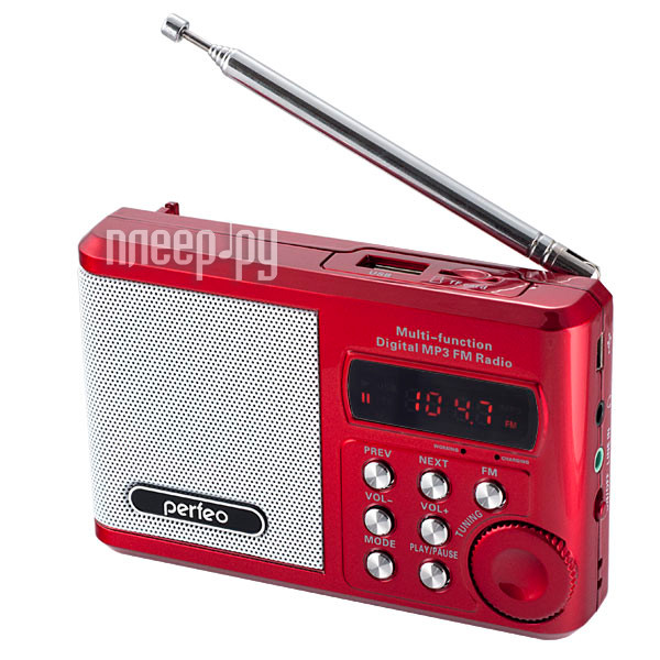 Радиоприемник Perfeo PF-SV922RED Red