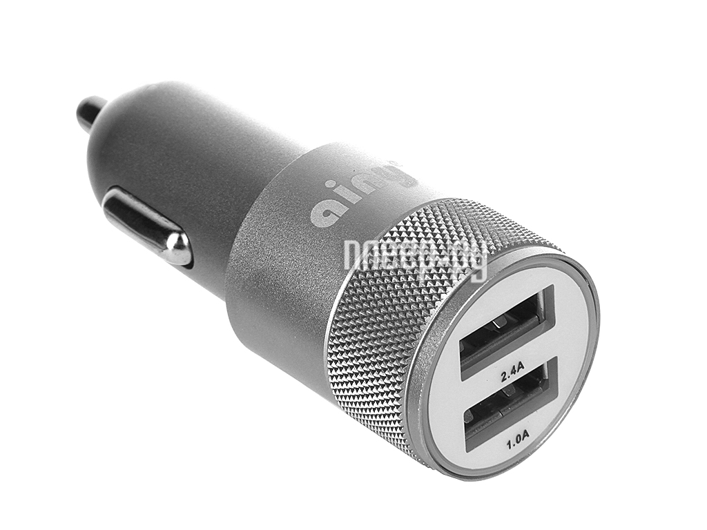 Зарядное устройство Ainy 2xUSB 1A / 2.4A EB-018K Grey