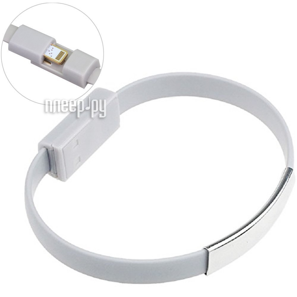 Аксессуар Activ USB / Lightning Cabelet Mono Gray 46901