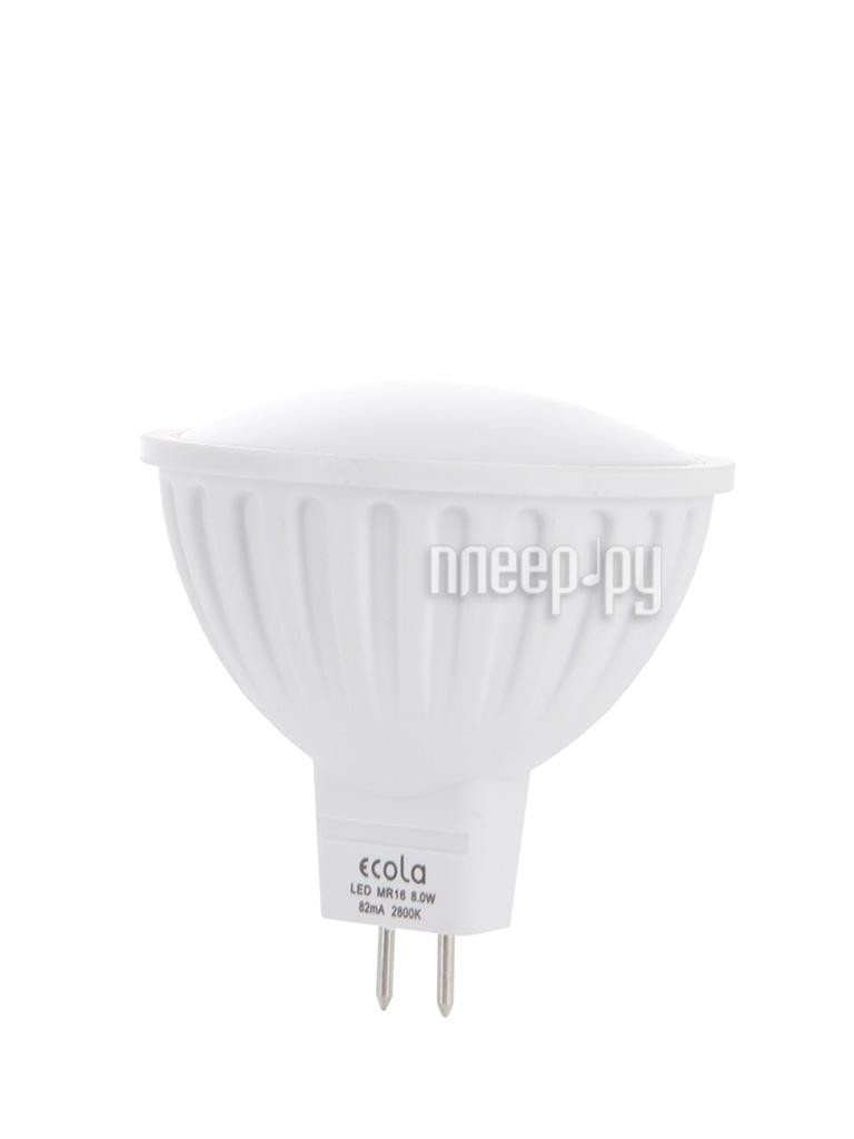 Лампочка Ecola MR16 LED GU5.3 8W 220V 2800K матовое стекло M2RW80ELC