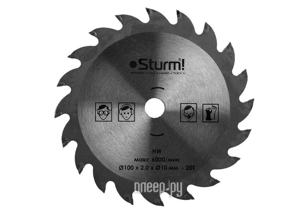 Диск Sturm! CS5010Li-990 пильный, по дереву, 100x10mm, 20 зубов