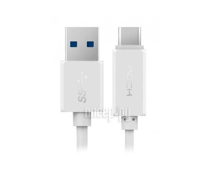 Аксессуар Rock Type-C to USB RCB0413 White