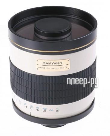 Объектив Samyang T-mount MF 800 mm F/8.0 Mirror  Pleer.ru  9267.000