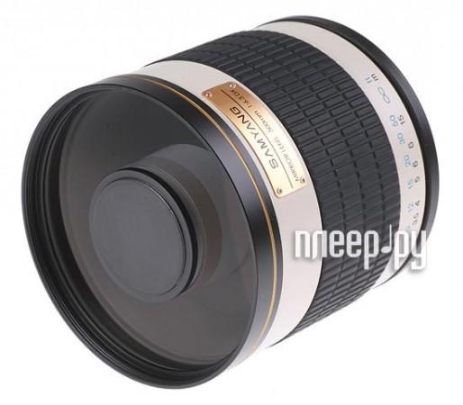 Объектив Samyang T-mount MF 500 mm F/6.3 Mirror  Pleer.ru  7560.000