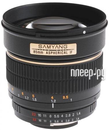 Объектив Samyang Pentax MF 85 mm F/1.4  Pleer.ru  11878.000