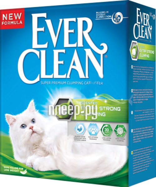 Наполнитель Ever Clean Extra Strong Clumpin Unscented 10L 492130