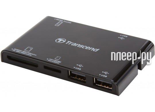 Карт-ридер Transcend Compact Card Reader P7 + 3-port HUB TS-RDP7K Black  Pleer.ru  866.000