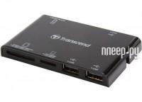 Transcend Compact Card Reader P7 + 3-port HUB TS-RDP7K Black