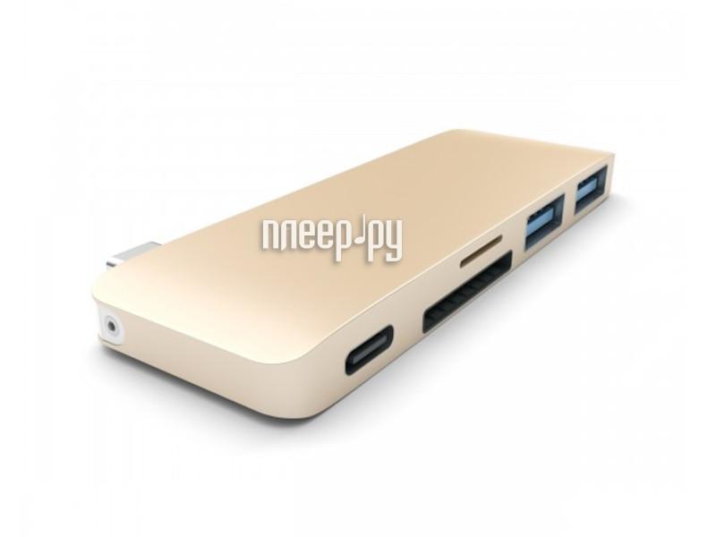 Satechi Combo Hub 3 in 1 USB Type-C USB 3.0 Gold B019PHF9UO