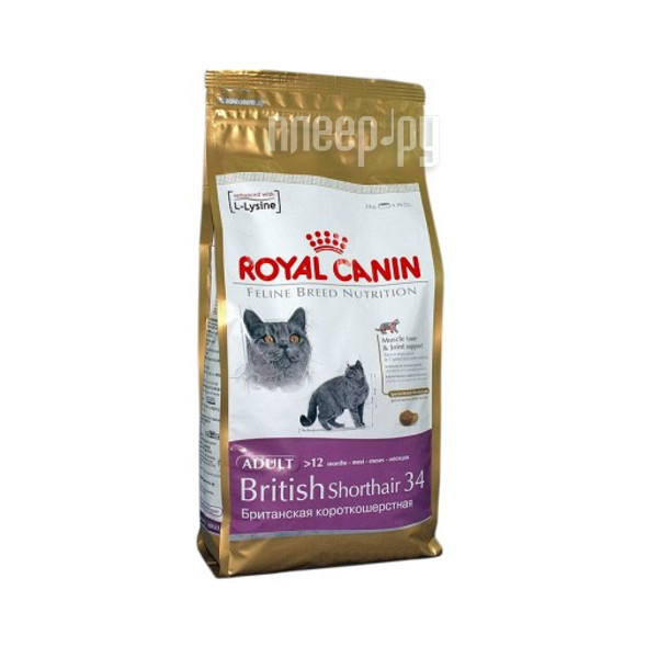 Корм ROYAL CANIN British Shorthair 34 400g для кошек 63807 / 679104 / 59136 / 679004