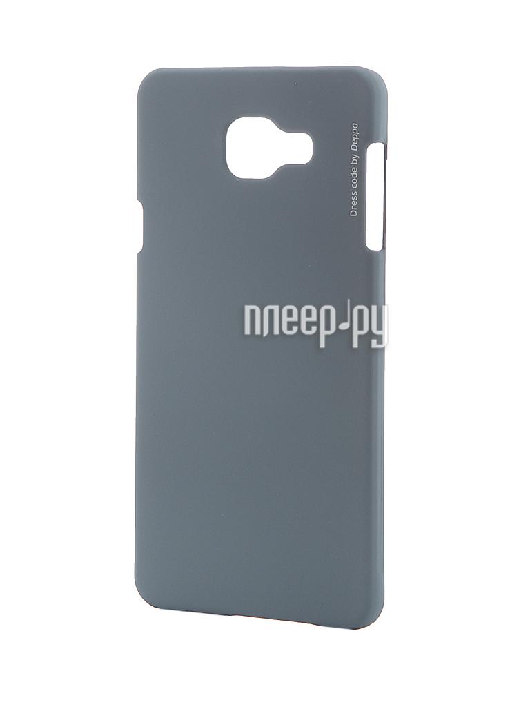 Аксессуар Чехол-накладка Samsung Galaxy A7 2016 Deppa Air Case + защитная пленка Grey 83237