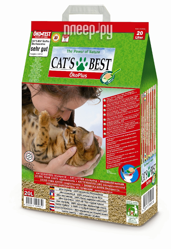 Наполнитель CatS Best Eko Plus 8.6кг
