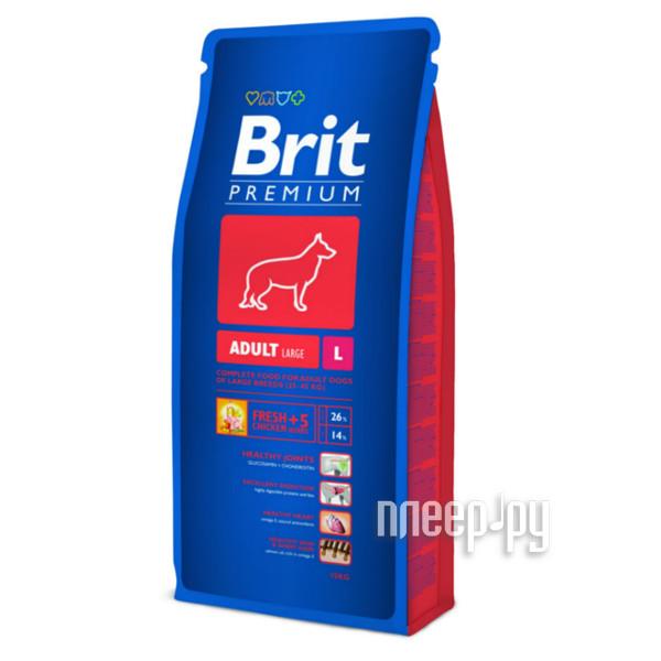Корм Brit Premium Adult L15kg для собак 9409 / 132321 купить