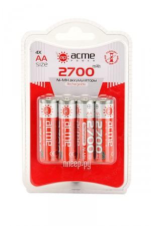 Аккумулятор AA - AcmePower R06 2700 mAh Ni-MH (4 штуки)