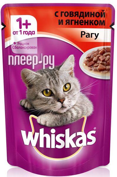 Корм Whiskas Пауч Рагу говядина / ягненок 85g 10117351 для кошек