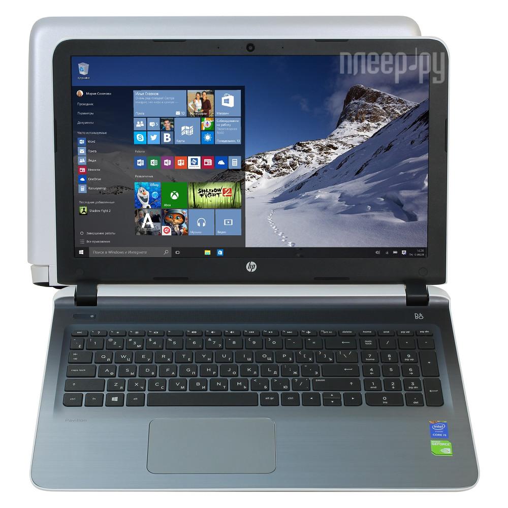 Ноутбук HP Pavilion 15-ab218ur P0U11EA (Intel Core i5-5200U 2.2 GHz / 6144Mb / 1000Gb / DVD-RW / nVidia GeForce 940M 2048Mb / Wi-Fi / Cam / 15.6 / 1920x1080 / Windows 10 64-bit)