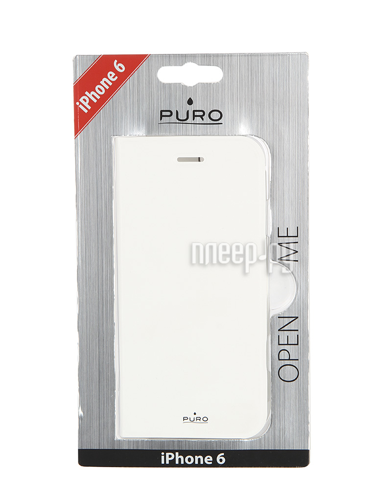 Аксессуар Чехол PURO Eco-Leather Cover для iPhone 6 White IPC647BOOKC1WHI