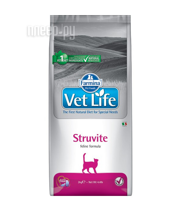 Корм Farmina Vet Life StruvIte диета 2kg для кошек 25319