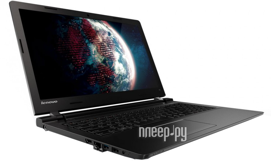 Ноутбук Lenovo IdeaPad 100 Black 80MJ00DSRK (Intel Celeron N2840 2.16 GHz / 2048Mb / 500Gb / No ODD / Intel HD Graphics / Wi-Fi / Cam / 15.6 / 1366x768 / Windows 10)