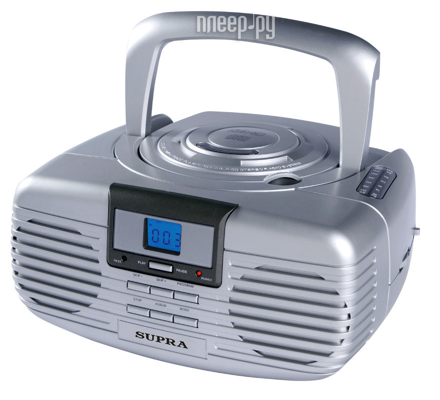 Радиоприемник SUPRA BB-CD101 Silver