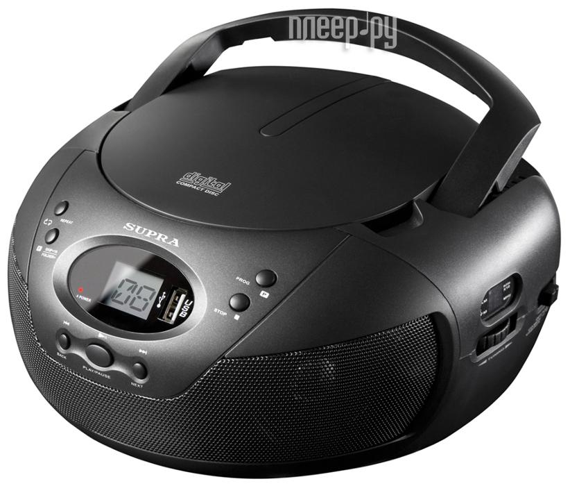 Радиоприемник SUPRA BB-CD121U Black