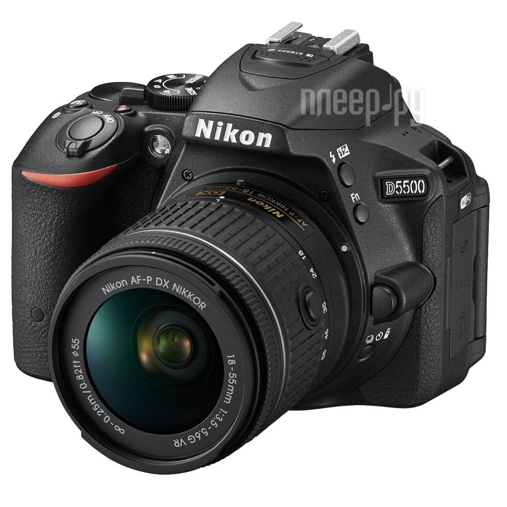 Фотоаппарат Nikon D5500 Kit 18-55 mm VR AF-P Black
