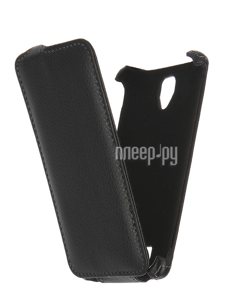 Аксессуар Чехол Lenovo A2010 Ainy / Red Line Business кожаный Black