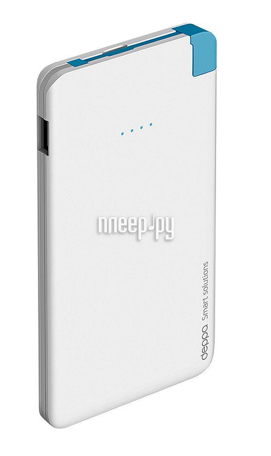 Аккумулятор Deppa NRG Slim 5000 mAh White 33508