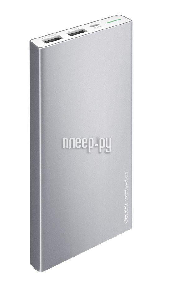 Аккумулятор Deppa NRG Alum 10000 mAh Graphite 33515