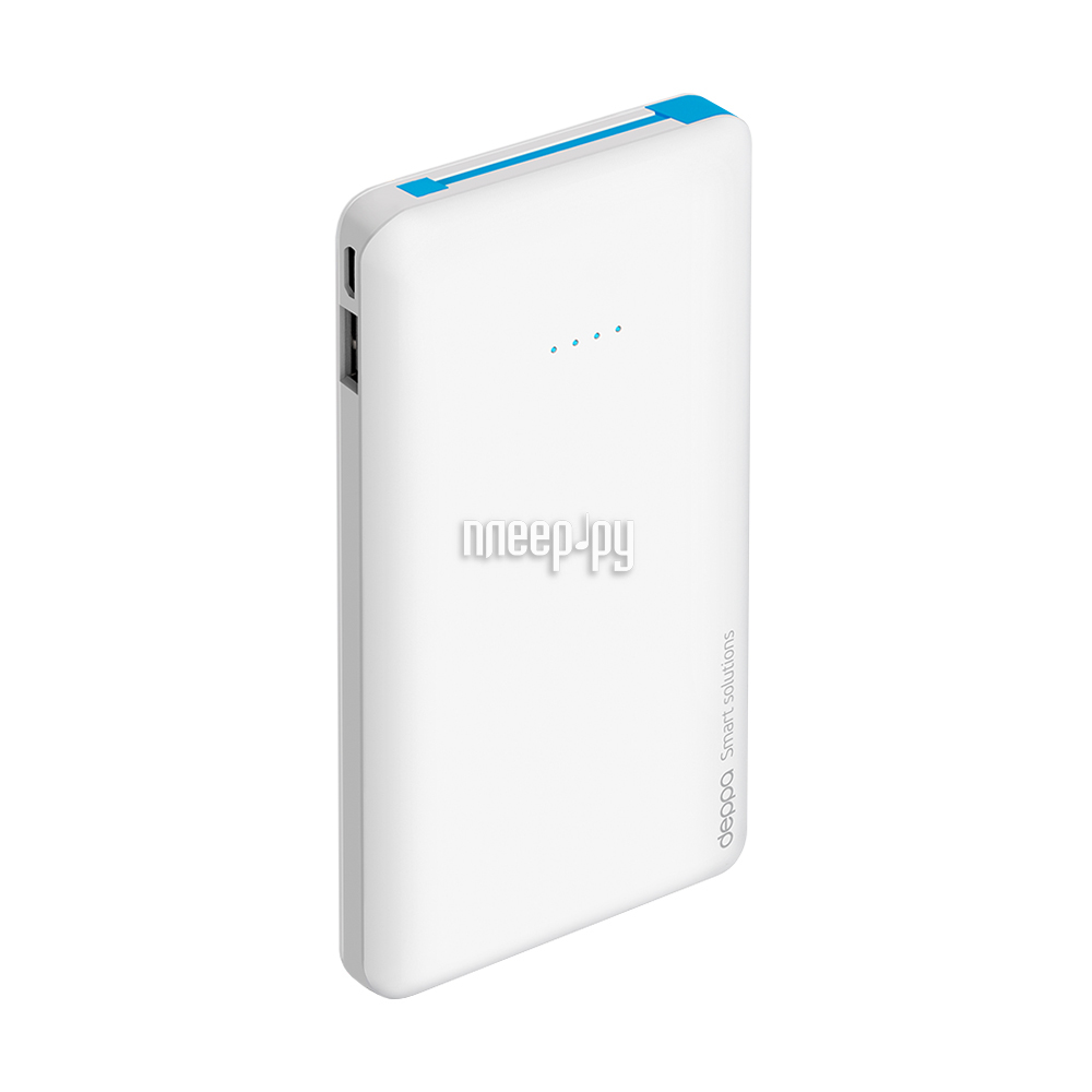 Аккумулятор Deppa NRG Slim 10000 mAh White 33509