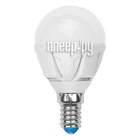 Лампочка Uniel LED-G45-6W / WW / E14 / FR / DIM PLP01WH