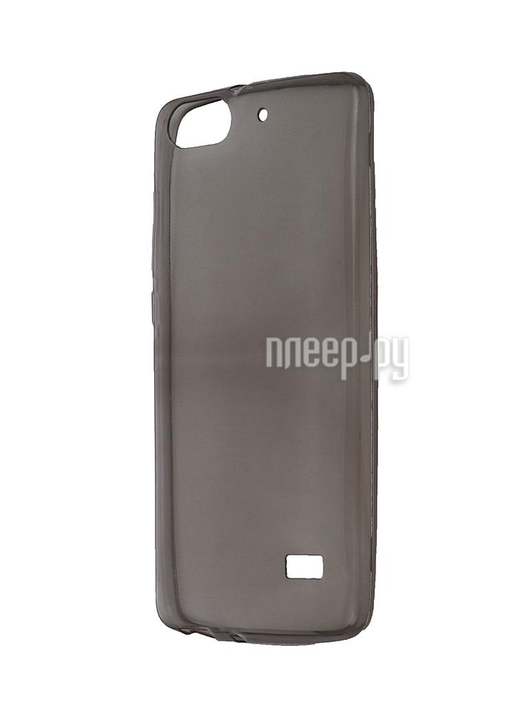Аксессуар Чехол Huawei Honor 4C Krutoff Transparent-Black 11592