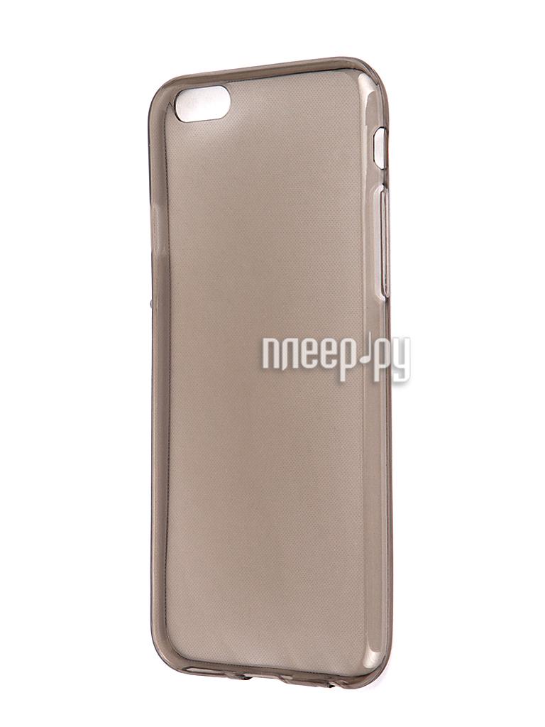 Аксессуар Чехол Krutoff для iPhone 6 Transparent-Black 10675