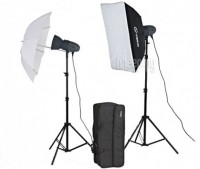 Комплект студийного света Visico VL Plus 300 Soft Box/ Umbrella KIT