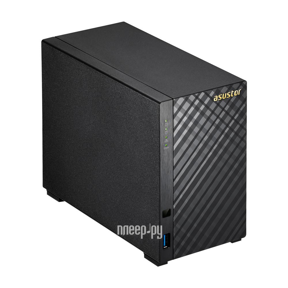 Сетевое хранилище Asustor AS-1002T 2 отсека 512Mb DDR3 SATAll SATAIII SSD GbEx1 USB 3.0 без HDD